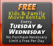 Free Kids and Family Movie Rentals